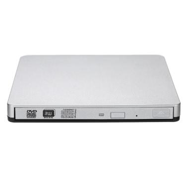 Universal USB 3.0 Ultra-slim Portable External DVD-RW CD-RW CD DVD ROM DVD Writer Player Hard Driver for Laptop Desktop Mac Notebook