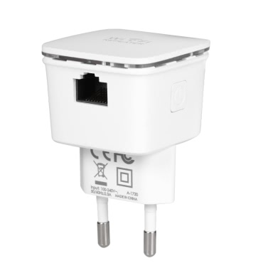 N300 WiFi AP / Repeater Wireless Range Extender Access Point Signal Booster 2.4GHz 300Mbps with Dual Integrated Antennas Wall Mounted US Plug