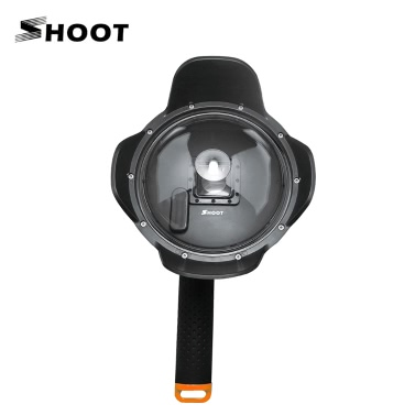 """Shoot 6"""" Diving Dome Port Fisheye Underwater Photography Transparent Wide Angle Lens Cover Shell Housing w/ Floaty Grip for GoPro Hero4/3+/3"""