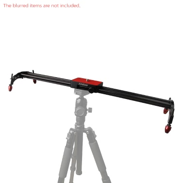 "Andoer 60cm / 24"" Aluminum Alloy Video Track Slider Dolly Stabilizer System for Canon Nikon Sony DSLR Cameras Camcorders"
