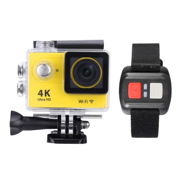 """2.0"""" LCD 4K(3840*2160) 15fps 1080P 60fps Full HD Wifi APP 30M Waterproof 12MP Sports Action Camera DV 170°Wide Angle Lens with Remote Watch"""