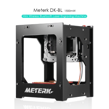 METERK DK-BL 1500mW Mini DIY Laser Engraving Machine Wireless Bluetooth Print Engraver Bluetooth 4.0 for iOS/Android USB Connection for PC Rapid Speed