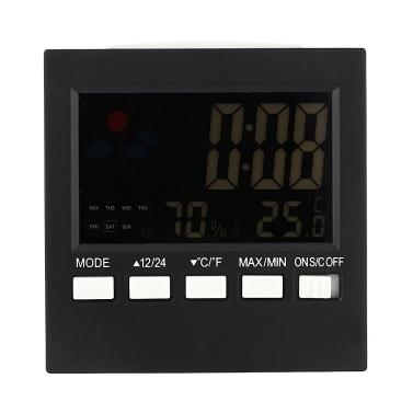 Multi-functional Digital Colorful LCD Thermometer Hygrometer Clock Alarm Snooze Function Calendar Weather Forecast Display