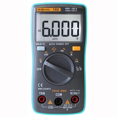 RICHMETERS RM102 Истинный среднеквадратичный цифровой мультиметр DMM DC DC Измерение сопротивления измерителя температуры емкостного сопротивления постоянного тока постоянного тока