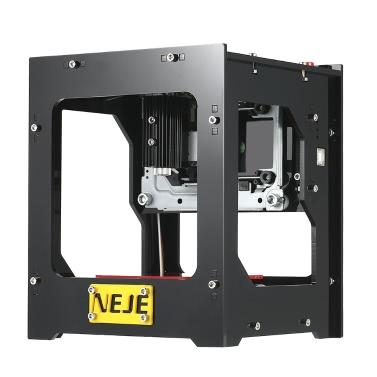 NEJE DK-8-FKZ Nagelneue 1500mW Hochgeschwindigkeitsmini-USB-Laser-Graviermaschine Carver Automatische DIY Druck-Gravur-Schnitzmaschine Off-line Betrieb mit Schutzbrille