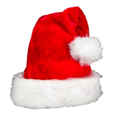 Women Men Christmas Santa Hat Plush Xmas Cap Santa Claus Party Festival Decoration Red