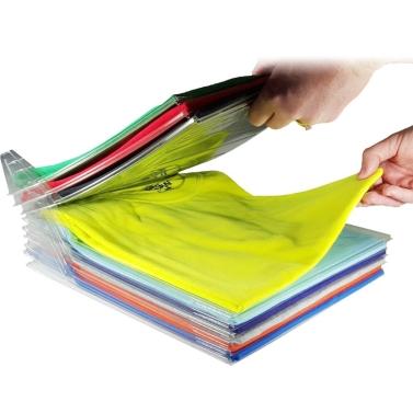 1 Layer Anti-wrinkle Neat Clothes Storage Holder Rack T-shirt Organizing System Travel Closet Organizer Shirt Folder