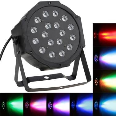DMX-512 RGB LED Stage PAR Light Lighting Strobe 7 Channel Party Disco Show 25W AC 90-240V