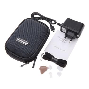 耳補聴器の調節可能なサウンド アンプ ミニ ポケット補聴器で K-88 充電式デジタル