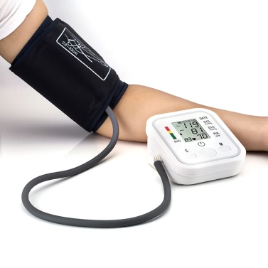 Automatic Arm Electronic Digital Blood Pressure Meter Monitor Measurement Health Care Sphygmomanometer with Voice Function