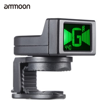 ammoon AT-08 Mini Digital LCD Clip-on Tuner for Acoustic Electric Guitar Bass Violin Ukulele Chromatic