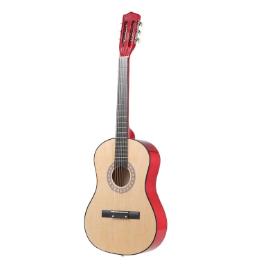 """38"""" 6-String Folk Acoustic Guitar for Beginners Music Lovers Students Gift"""