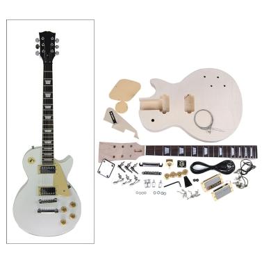 LP Style Electric Guitar DIY Kit Set Mahogany Body