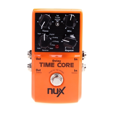 NUX Time Core Guitar Effect Pedal 7 Delay Models True Bypass