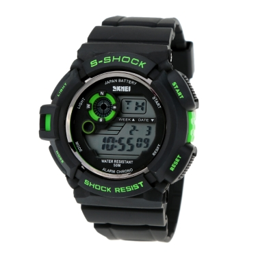SKMEI S-SHOCK Multifunction High Quality Sports Wristwatch Water Resistant Silicone Strap Outdoor Watch for Men and Women