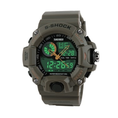 SKMEI Men Dual Time Multifunctional High Quality Sports Wristwatch Water Resistance Outdoor Electronic Watch