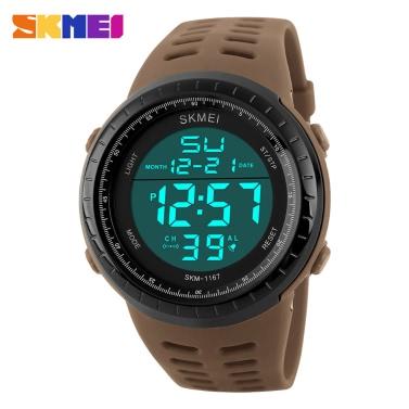 SKMEI Great 3ATM Water Resistant Men Digital Sports Wristwatch Good Quality Outdoor Watch with Calendar Alarm Backlight Stop Watch