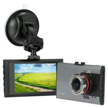KKmoon Ultra Slim 3.0 inch 1080P HD Car Dash Cam Vehicle Camcorder with Night Vision / G-Sensor / Motion Detection