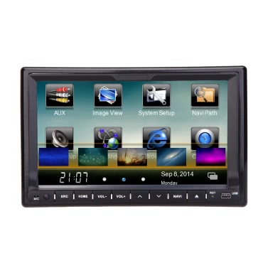 "Universal 7"" HD Touch Screen GPS 2 Din Car DVD/USB/SD Player"