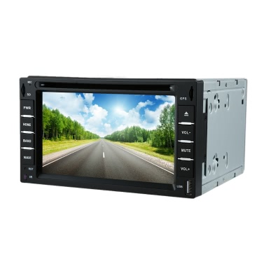 "6"" 2 Din Car DVD USB SD Player GPS Navigation Bluetooth Radio Multimedia HD Entertainment System for Car"