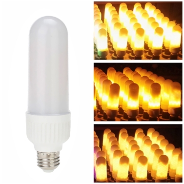 LED E27 Fire Effect Light Bulb 3 Lighting Modes