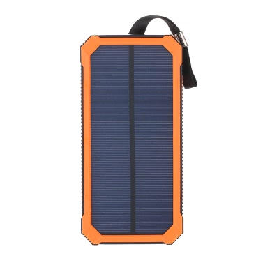 Portable Multifunctional 5000mAh Solar Power Bank Charger Dual USB 10000mAh Battery With 6LED 80LM Dimmable Camping Light Outdoor Hiking Travel Emergency Lamp