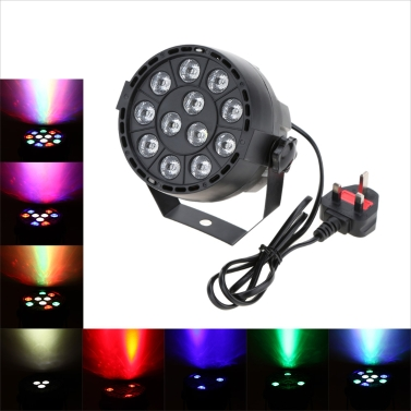 DMX-512 LED RGBW Stage Light PAR Lighting Strobe Professional 8 Channel Party Disco Show 15W AC 90-240V