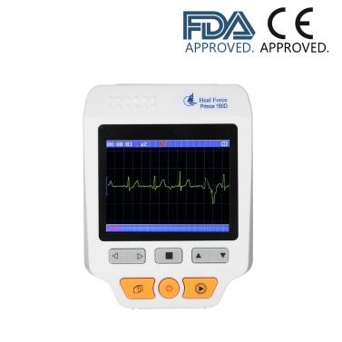 Heal Force Medical Portable ECG EKG Monitor Machine 3 Channel Heart Rate Monitor