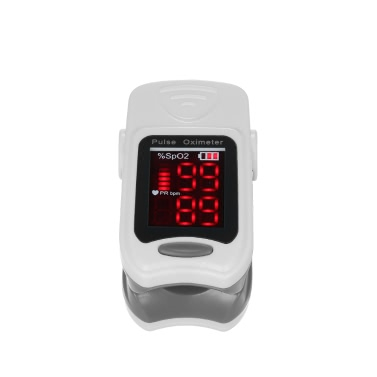 Accurate LED Fingertip Pulse Oximeter Blood Oxygen Saturation Monitor SPO2/Pulse Rate Detector with Lanyard FDA/CE/ROHS Approved