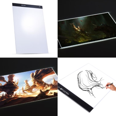 Portable A3 LED Light Box Drawing Tracing Tracer Copy Board Table Pad Panel Copyboard with Memory Function Stepless Brightness Control for Artist Animation Tattoo Sketching Architecture Calligraphy Stenciling