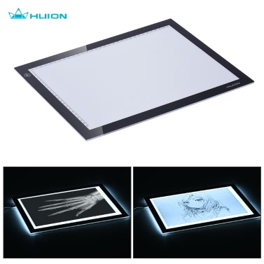 """HUION L4S 15"""" A4 Size Ultra-thin Portable LED Light Pad Box Panel Table Copyboard Adjustable Illumination USB Powered for Cartoon Tattoo Tracing Pencil Drawing"""