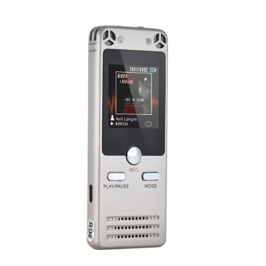 Portable Multifunctional Digital Audio Voice Recorder Recording Device Dictaphone 8GB Memory MP3 Music Player Telephone Conversation Recorder A-B Repeating Built-in HiFi Speaker