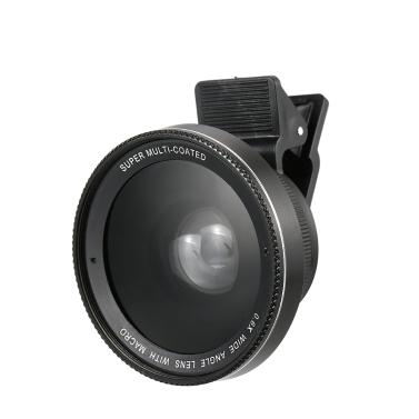 Phone Lens 0.6x / 0.45x Super Wide Angle + Macro Lens Smartphone Camera Lens Detachable Clip-on 2 in 1 Mobile Phone Lens Camera Lens Kit