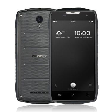 DOOGEE T5S IP67 Outdoor Ragged Tough Phone Waterproof Dustproof Drop-resistant Shock-resistant 4G MTK6735 64-bit Quad Core Android 6.0 5.0 Inches HD 1080*720Pixels Screen 2GB RAM+16GB ROM 5MP+8MP Camera 4500mAh OTG