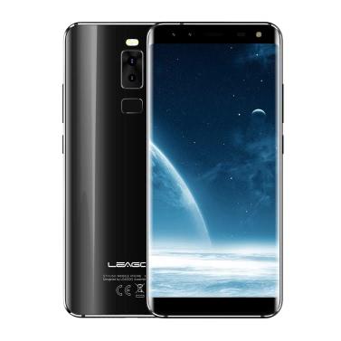 LEAGOO S8 Mobile Phone 4G Phone 5.7inch HD Display MTK6750T Octa core 1.5GHz 3GB RAM 32GB ROM Android 7.0 Front 8MP+2MP Rear 13MP+2MP Quad-cam 2940mAh Fingerprint ID FM WiFi GPS Smartphone