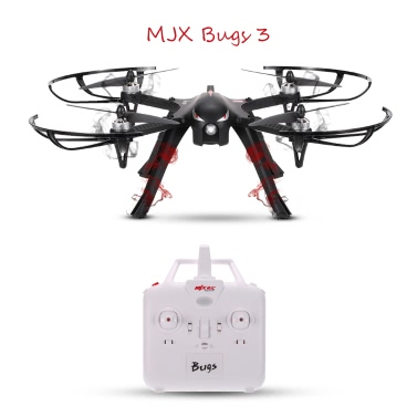 MJX B3 Bugs 3 Brushless Motor Drone Support C4000 Gopro 3/4 XiaoYi Action Camera RC Quadcopter - Black