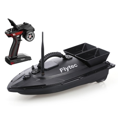 Flytec V500 RC Fishing Bait Boat RC Boat Fish Finder 1.5kg Loading 500M Remote Control Double Motor Night Light