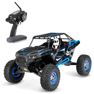 Original Wltoys 10428-B 1/10 2.4G 2CH 4WD 30km/h Electric Brushed Off-road Rock Crawler w/ LED Lights RTR RC Climbing Car