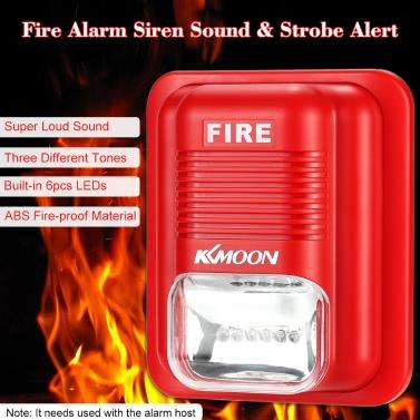 KKmoon  Fire Alarm Siren Sound & Strobe Alert Horn Security Safety System for Home Office Hotel Restaurant