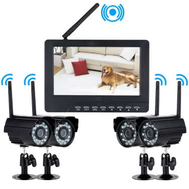 4 Channel Digital Wireless DVR  Security System