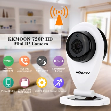 KKmoon H.264 1.0MP HD 720P Mini IP Camera P2P IR Cut WiFi Wireless Network IP Security Camera Baby Monitor Webcam