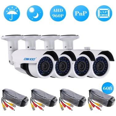 OWSOO 4*960P AHD CCTV Camera + 4*60ft Surveillance Cable