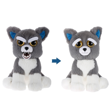 Feisty Pets Sammy Suckerpunch Adorable Plush Stuffed Dog Turns Feisty with a Squeeze