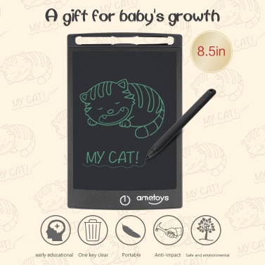 Ametoys 8.5-Inch LCD Writing Tablet Drawing - Black