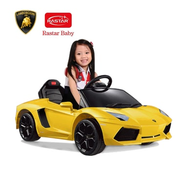 Rastar Kids 6V Electric Ride on Toy Car Lamborghini Aventador LP700-4 Four Wheel Vehicle Parent Remote Control Orange