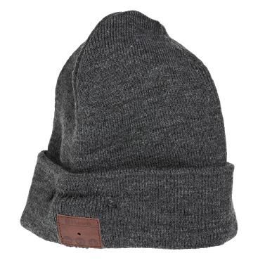 Wireless Bluetooth Beanie Stereo Headphone Detachable Winter Hat Grey