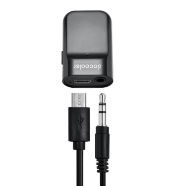 Docooler Bluetooth Receiver Hands-free Car Kits 3.5mm Stereo Bluetooth Music Receiver for Audio Streaming Home/Car Audio System Use