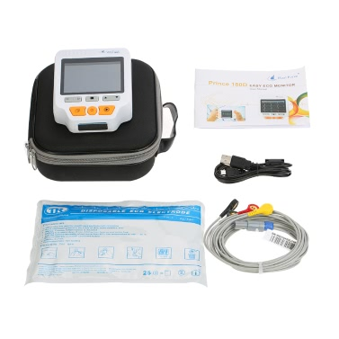 Heal Force Prince 180D Tragbare EKG-Monitor Professionelle Handheld LCD Herz-Monitor Elektrokardiogramm EKG-Monitoring-Maschine