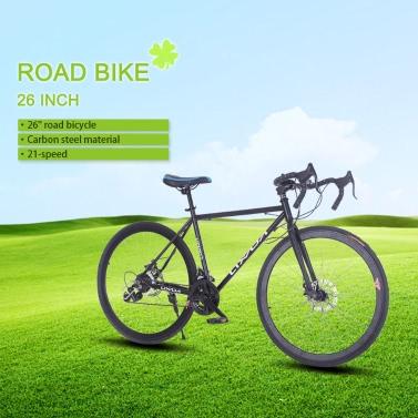 "Lixada 26"" Carbon Steel Bike 21-speed Fix Bike Bicycle Fix Gear Bicycle"