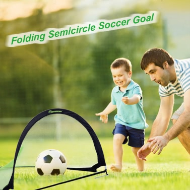 48*30*30in Semicircle Portable Folding Soccer Goal Child Pop Up Soccer Goal for Sports Training Backyard Playground